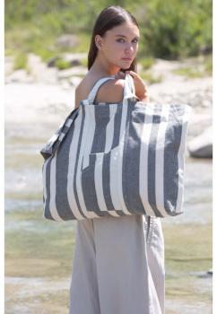 Recyklovaná taška na vše - Pruhovaný vzor