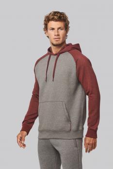 Mikina unisex Adult two-tone hooded sweatshirt